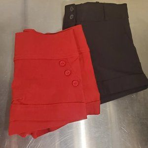Shorts (2): Pair of Red and Pair of Black Large